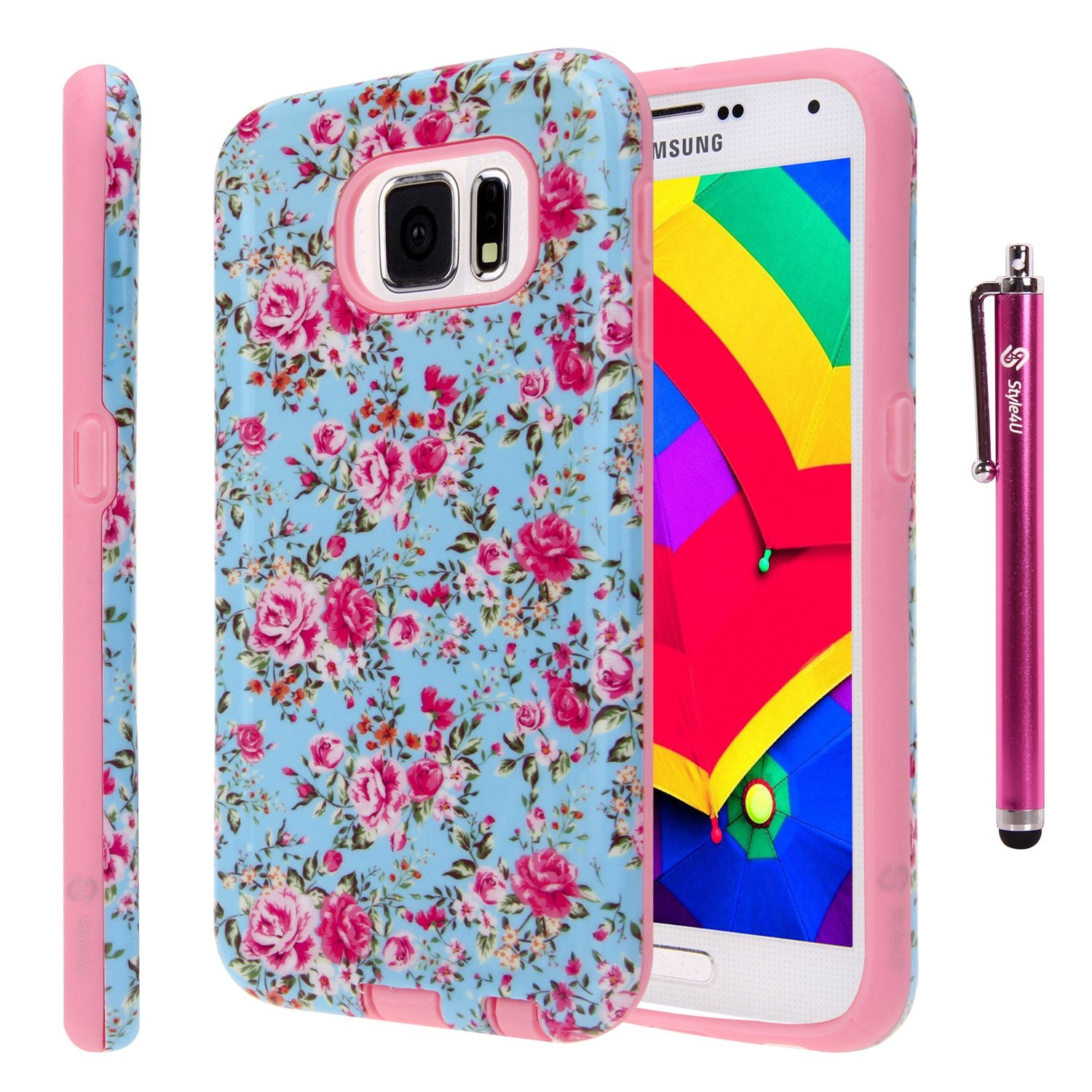 Style4U-Patterned-Design-Hybrid-Armor-Samsung-Galaxy-S6-Phone-Case-with-Stylus