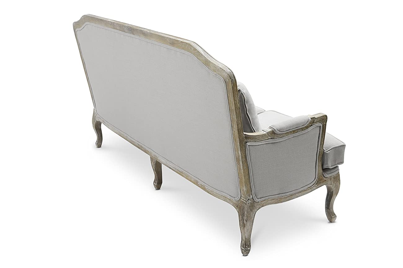 Baxton Studio Constanza Classic Antiqued French Loveseat 3