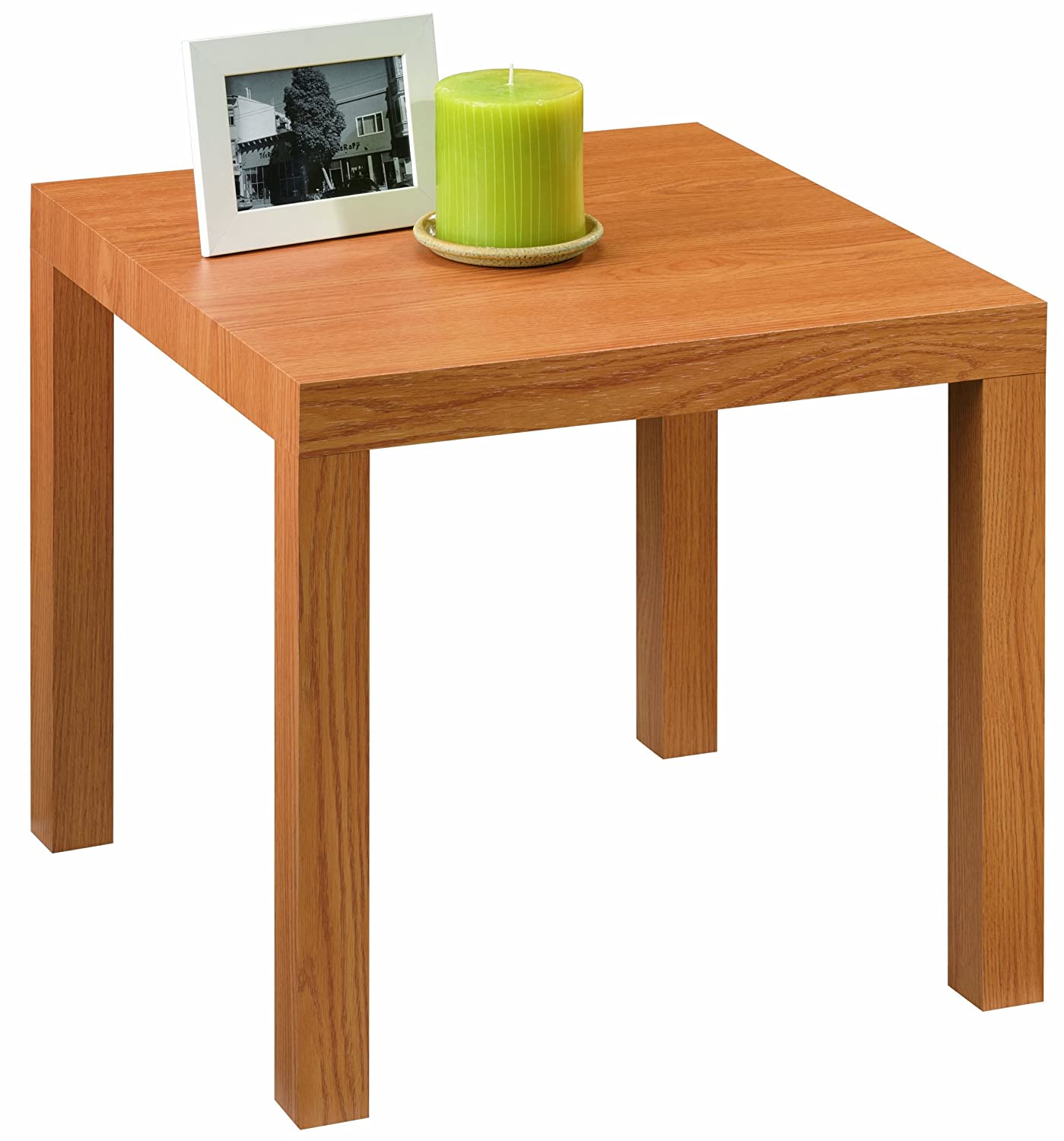 Modern natural wood grain end table living room furniture