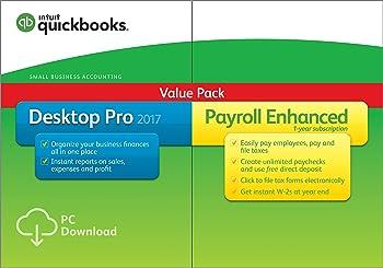 QuickBooks Desktop Pro 2017 with Payroll Enhanced Bundle