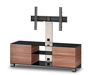Sonorous MD 8340-B-INX-WNT Ready Assembled Walnut Cabinet for TV's Up To 65 inch