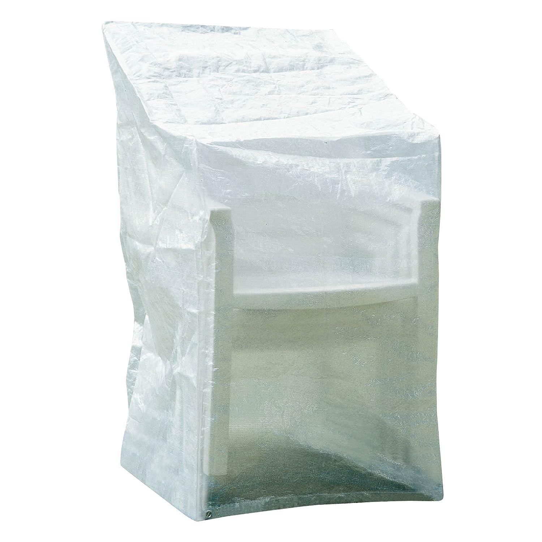 Greemotion Schutzhülle für Stühle oder Relaxsessel wasserabweisen mit Ösen, Transparent, ca. 63 x 66 x 117 cm