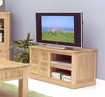 Baumhaus Mobel Oak cuatro cajones mueble para televisor