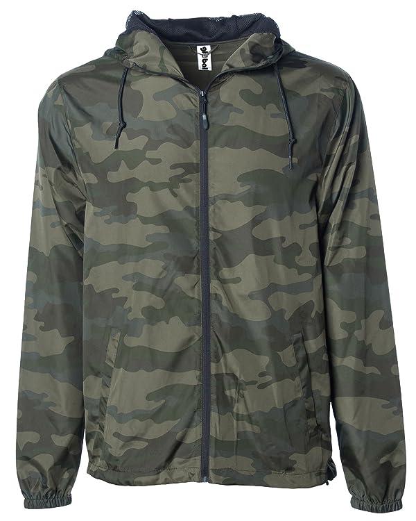 3707cb694 Global Blank Men's Hooded Lightweight Windbreaker Jacket Water ...