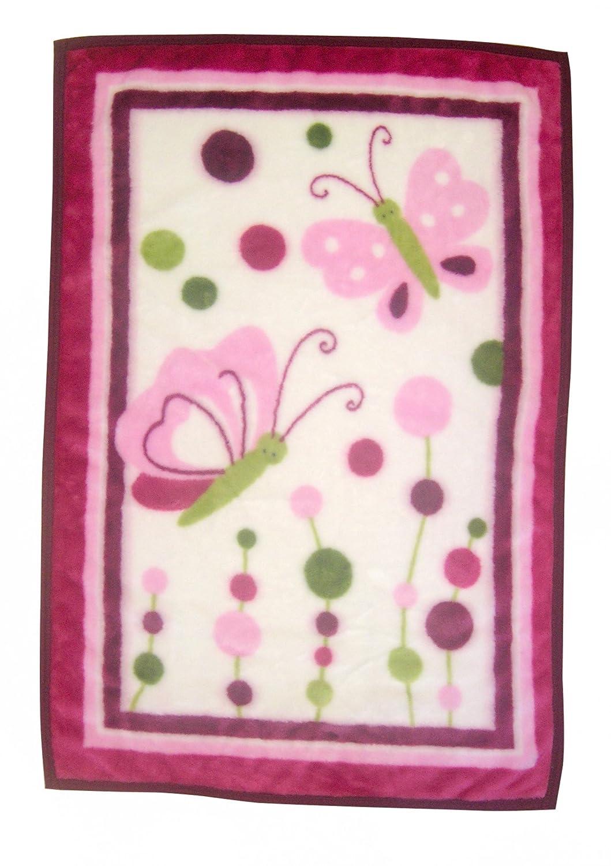 Lambs & Ivy Raspberry Swirl Warm and Cozy Blanket