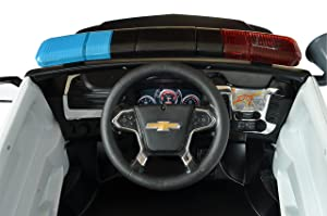 Rollplay 6 Volt Chevy Tahoe Police SUV Ride On Toy, Battery-Powered Kid's Ride On Car