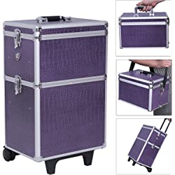 Songmics JHZ03P large Beauty Nail Art Storage Tool Kit Trolley - Purple