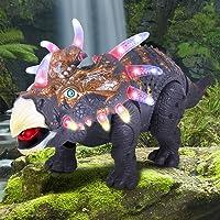 Walking Dinosaur Triceratops Toy Figure