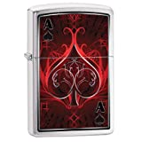 Personalized Message Engraved Customized Gift For Him For Her Fusion, Ace of Spades Zippo Indoor Outdoor Windproof Lighter (Ace #2) (Color: Multi)