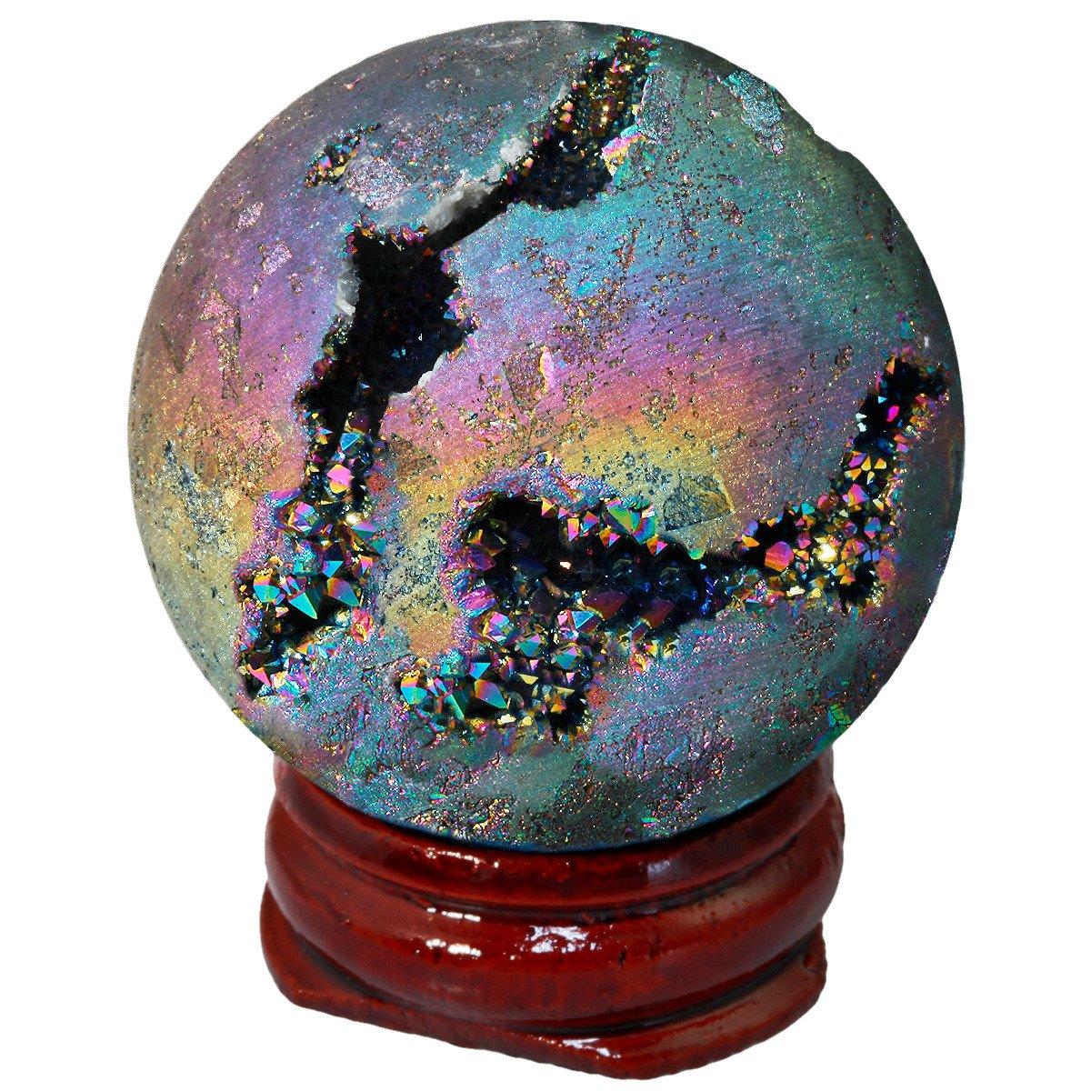 Rainbow Geode Sphere