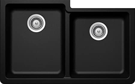SCHOCK ALIN175YU097 ALIVE Series CRISTADUR 60/40 Undermount Double Bowl Kitchen Sink, Magma