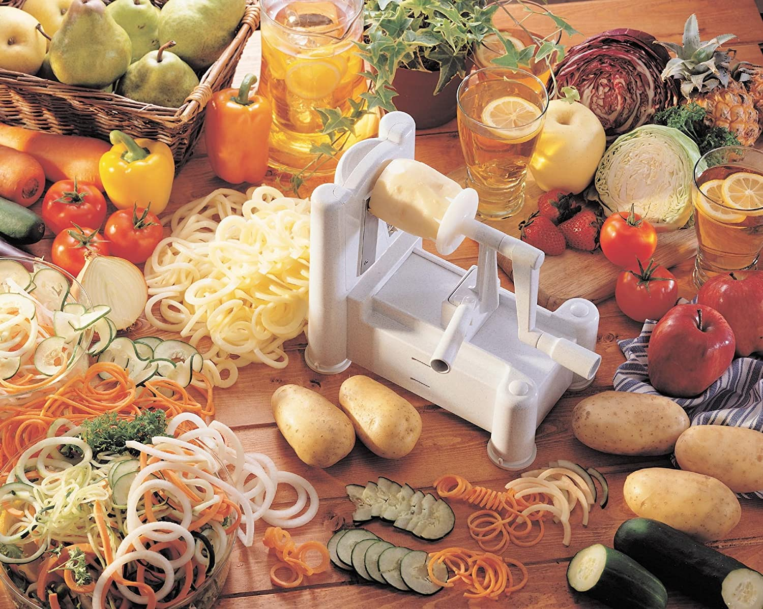 Make zoodles paderno world cuisine a4982799 reviews - Paderno world cuisine tri blade spiral vegetable slicer ...