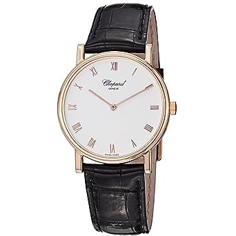 Chopard Men's 163154-5001 Classic Slim Black Leather Strap Watch