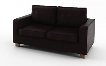 Sofabella Pippa 2-Seater Sofa with Faux Leather PVC, 152 x 82 x 83 cm, Brown