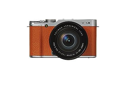 """Fujifilm XA2 Kit Compact numérique hybride 16,3 Mpix Écran LCD 3 """" Zoom 3,2x Kit Boîtier + Objectif 16-50mm Marron/Argent"""