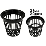NP2BB: 2 Inch Black Slotted Mesh Net Pot for Hydroponics/Aquaponics/Orchids - 100 Pack (Color: Black, Tamaño: 100 BLACK)