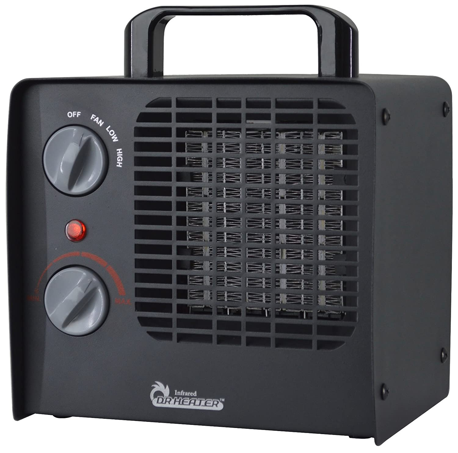Dr. Heater DR-838 Family Red Ceramic Space Heater with Adjustable Thermostat