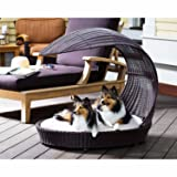 Outdoor Dog Chaise Bed n Espresso, Large (Color: Browns, Tamaño: Size: Large - (38