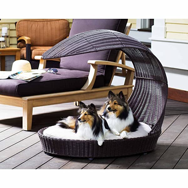 Outdoor Dog Chaise Bed n Espresso, Large (Color: Browns, Tamaño: Size: Large - (38 w x 28 d x 35.5 h))