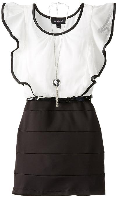 Amy-Byer-Big-Girls-Flutter-Sleeve-Seamed-Skirt-Dress