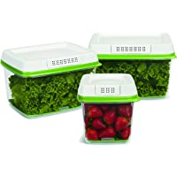 Rubbermaid FreshWorks 3-Piece Food Storage Container (Green)