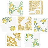 CODOHI 7 Packs Mixed Media Quarter Mandala Stencils Set - Reusable Floral Mylar Template for Wood Signs Pillows Wall Scrapbook Card Making DIY Craft Stencil - 5.1x5.5