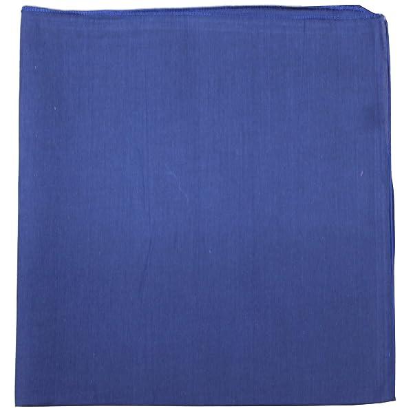 One Dozen Set of 12 Solid 100/% Polyester Unisex Bandanas