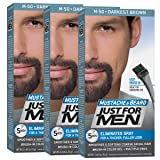 Just For Men Mustache and Beard Brush-In Color Gel, Darkest Brown (Pack of 3, Packaging May Vary)