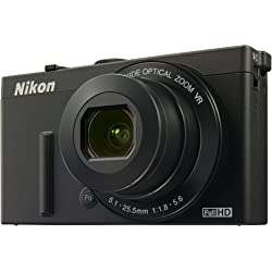 Nikon Coolpix P340 12MP Digital Camera with 5x Optical Zoom - Black