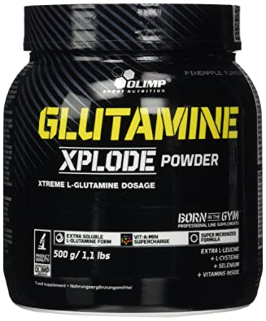Olimp L-Glutamine Explode Powder, Ananas, 500 g