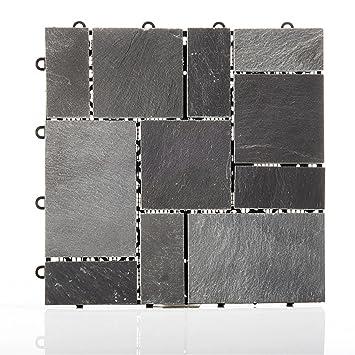 terrassenplatten set flagstone schwarz aus hochwertigem. Black Bedroom Furniture Sets. Home Design Ideas