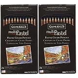 General Pencil 4401-24A Multi Pastel Pencils, 24-Pack (Tw? P?ck) (Tamaño: Tw? P?ck)