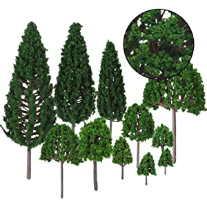 Bememo 33 Pieces Model Trees 1 18 - 6 29 inch/ 3 - 16 cm Mixed Model