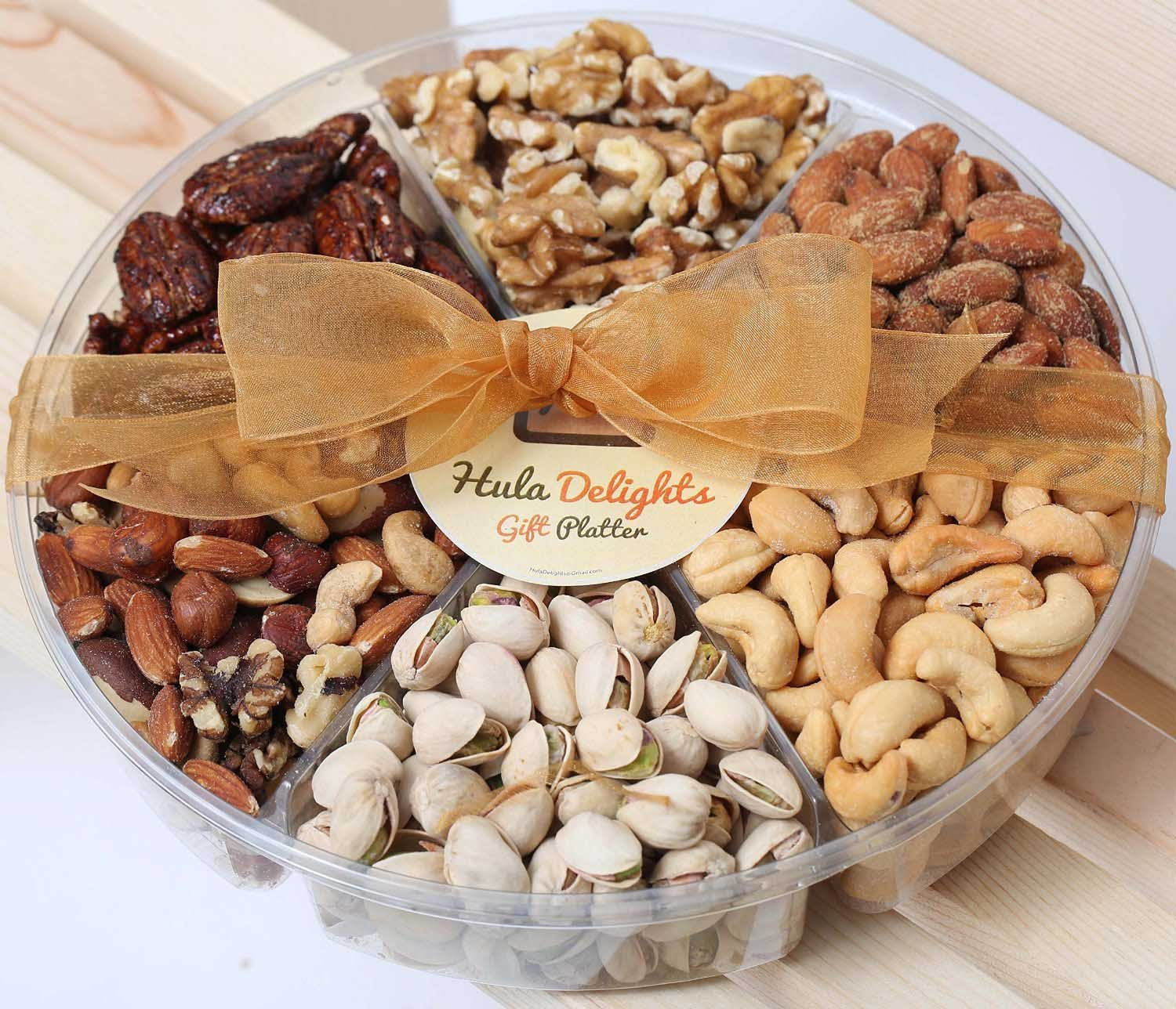 Deluxe Roasted Nuts Gift Tray 6-Section – Hula Delights