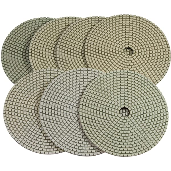 Stadea PPD124N 7 Dry Diamond Polishing Pads for Concrete Travertine Marble Terrazzo Floor Edges Countertop Polishing - Grit 200, Series Super C (Color: Pack of 01, Tamaño: Pos3 Grit 200)
