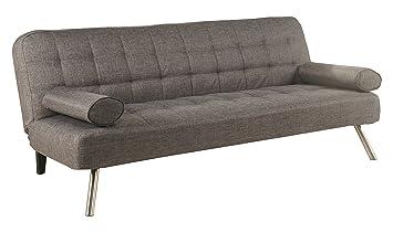 Leader Lifestyle Tobi Canapé-lit en tissu moderne Gris galet, bois