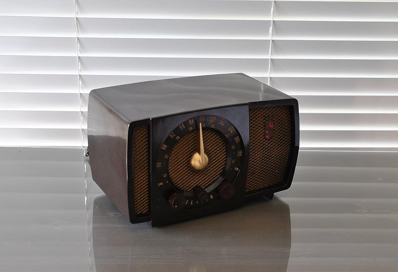 Working Antique 1951 Zenith AM & FM Radio Model H723Z 2