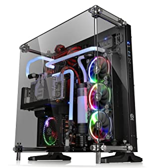 Thermaltake Core P5 Tempered Glass Black Edition ATX Open Frame Panoramic Viewing Tt LCS Certified Gaming Computer Case CA-1E7-00M1WN-03 (Color: Black)