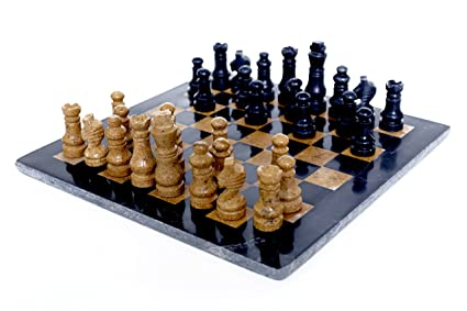 RADICALn handmade Black and Golden marble full chess game original marble chess set - RADICALn handmade noir et or marbre jeu d'échecs complet échecs d'origine marbre
