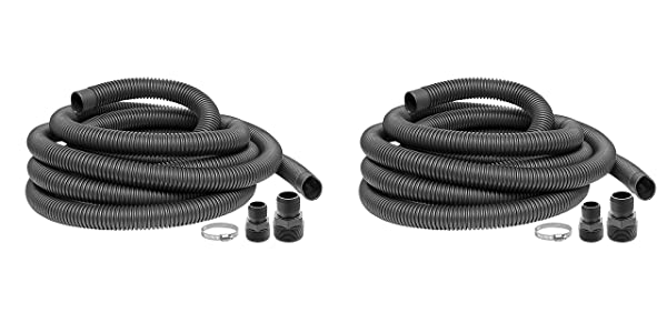 Superior Pump 99624 Universal Discharge Hose Kit, 24-Feet, with 1-1/4-Inch and 1-1/2-Inch Adapters (?w? ???k) (Color: ?w? ???k)