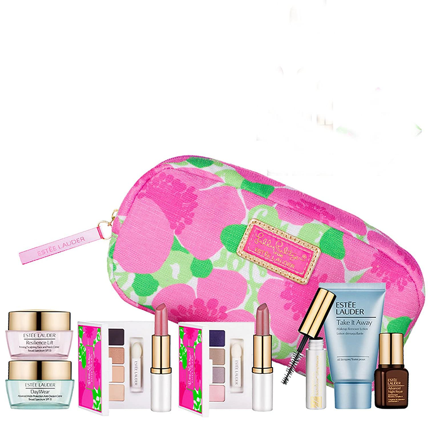 New-Estee-Lauder-Spring-7pc-Skincare-Makeup-Gift-Set-120-Value-with-Cosmetic-Bag