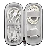 EVA Headphone Hard Travel Carrying Case, Portable Storage Bag For Bluetooth Wired Headset Earphone Earbuds MP3, AirPods, Lighting Cable, Power Adapter (Color: Black, Tamaño: M)