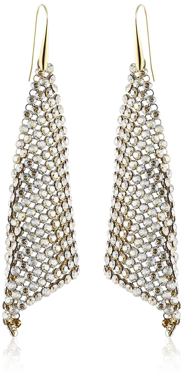 Swarovski Damen-Ohrhänger Fit Kristall golden shadow PVD gold 9.5 cm 1160580 jetzt kaufen