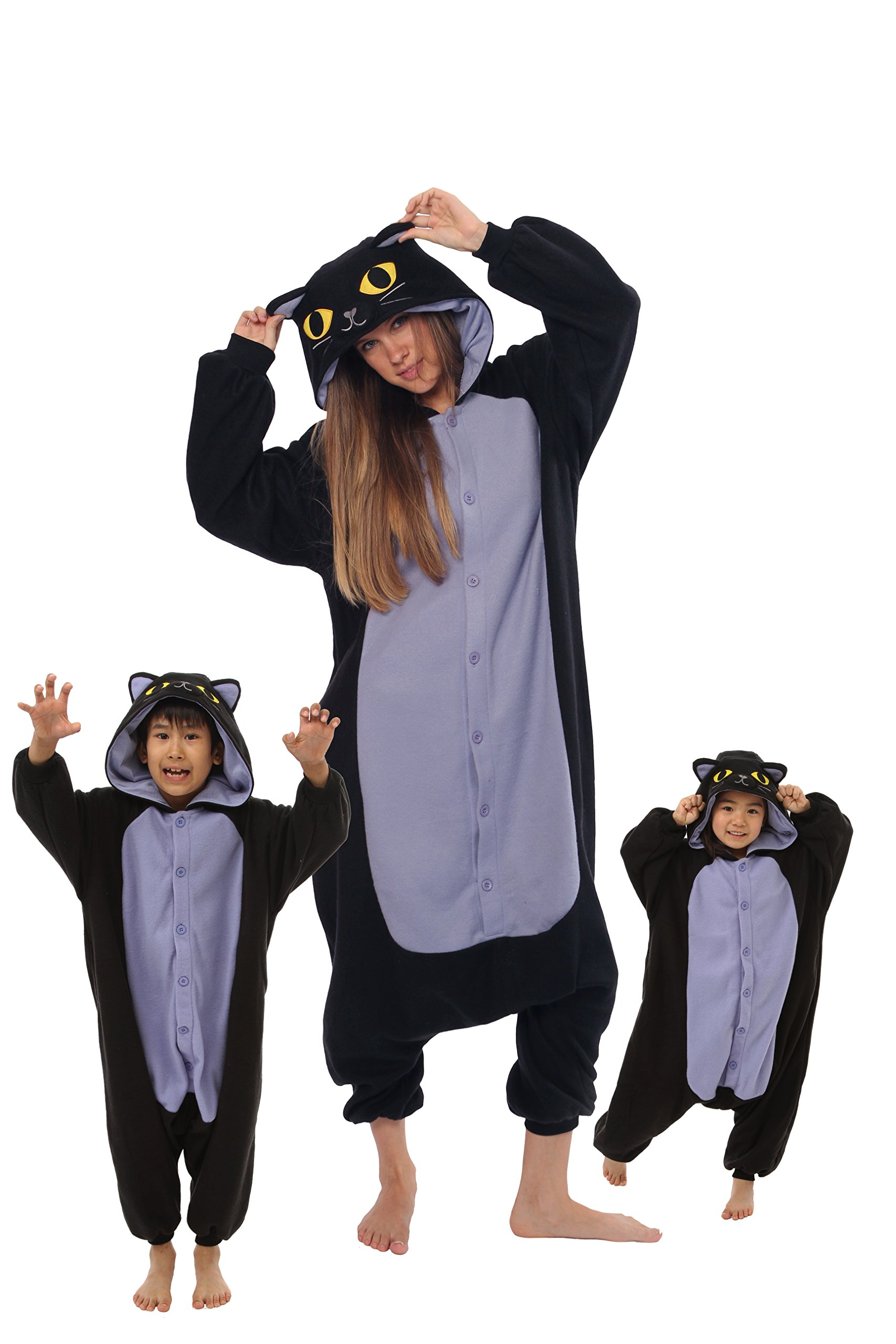 Spooky Cat Kigurumi All Ages Costume Halloween Onesie Costume