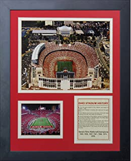 87794e13 Legends Never Die Ohio State Buckeyes Ohio Stadium Framed Photo Collage, 11  by 14-