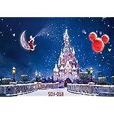 7x5ft Christmas Backdrops for Photography Santa Claus & Christmas Balloon & Fantasy Castle Pictorial Cloth Christmas Photography Background Christmas Photo Backdrop for Pictures Studio Prop SDJ-018 (Color: SDJ-018, Tamaño: 7X5FT)