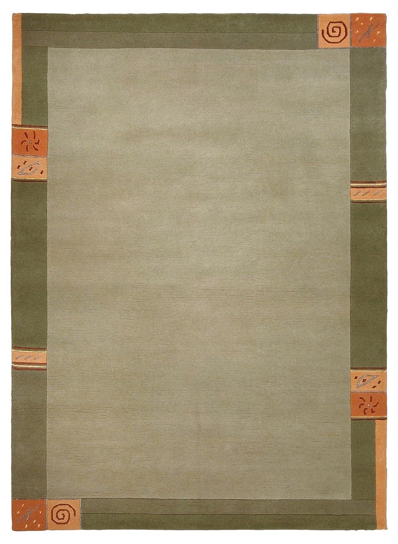 """Luxor Living Nepal Teppich handgeknüpft grün """"Größe auswählen"""" 200 x 300 cm"""
