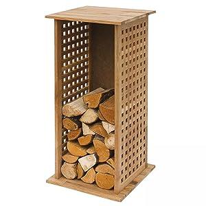 Kaminholzregal Holz naturbelassen mit Leinöl getränkt 39x85x39 cm  BaumarktKundenbewertung und weitere Informationen