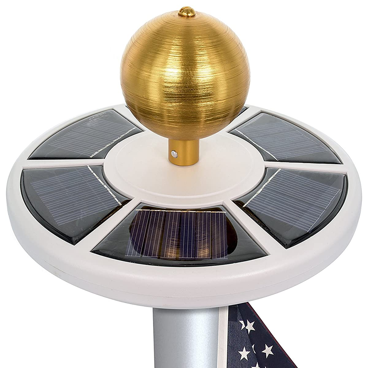 Maggift Solar Flag Pole Light 26 LED, Solar Flagpoles Night Light for 15-25 Ft Flag pole