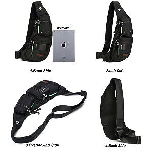 Da... Nicgid Sling Bag Chest Shoulder Backpack Fanny Pack Crossbody Bags for Men